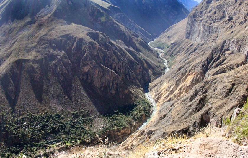Looking down into the Colca Canyon