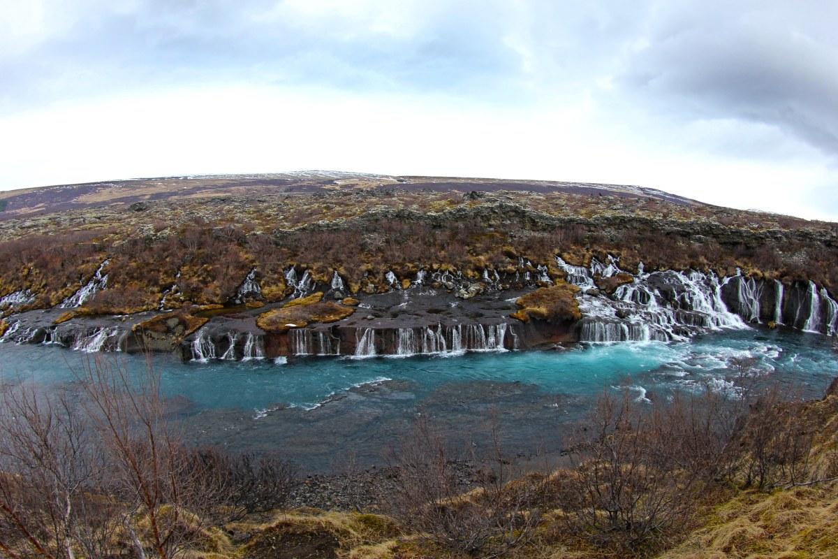 Hraunfosser Waterfall, Iceland