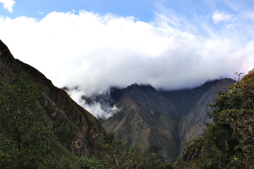 The Andes along the Inca Trail, Peru