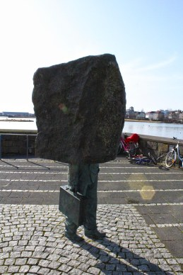 Sculptures can be found walking all around Reyjavik, but they don't necessarily have to make sense.