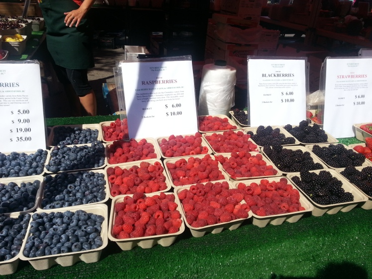 Particularly scrumptious-looking berries at the market.