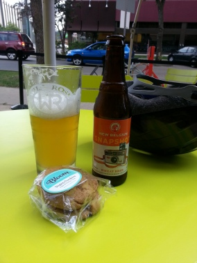 My mid-afternoon beer and snack break.