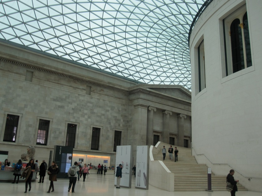 Old meets new inside the British Museum.