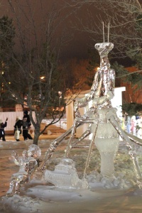 Because in January, when it's colder than frozen hell, we have an ice sculpture festival.