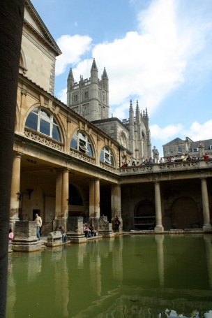 The Roman Baths at Bath.