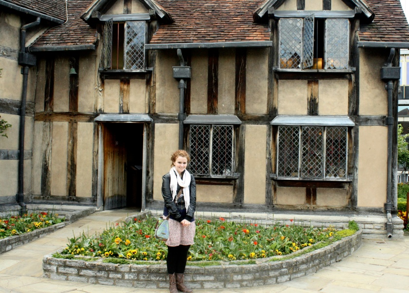 Me in front of Shakespeare's house in Stratford.