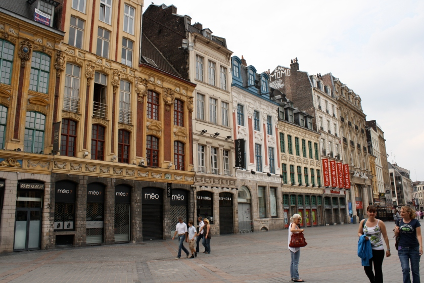 Belgian architectural influences on the streets of Lille.