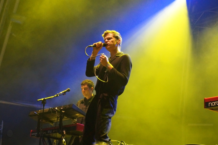 Perfume Genius at the Pitchfork stage.