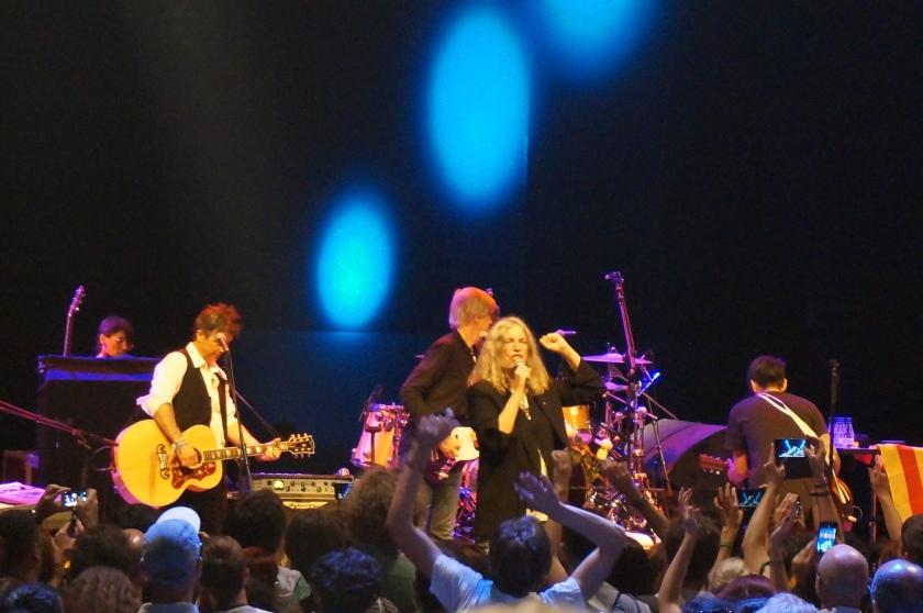 Patti Smith inside the Auditori Rock Delux