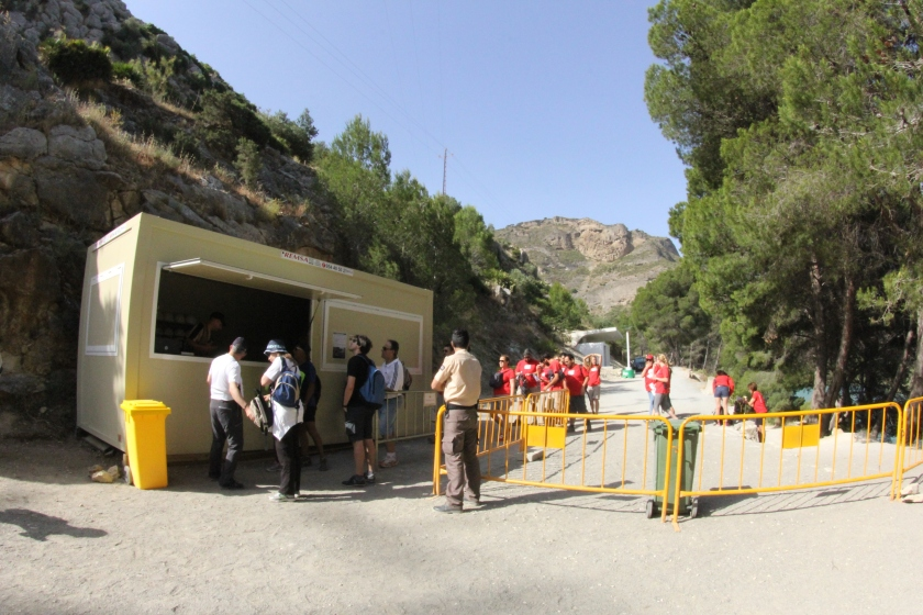 The Access Norte gate, where you wait for a safety orientation and collect your hard hat.