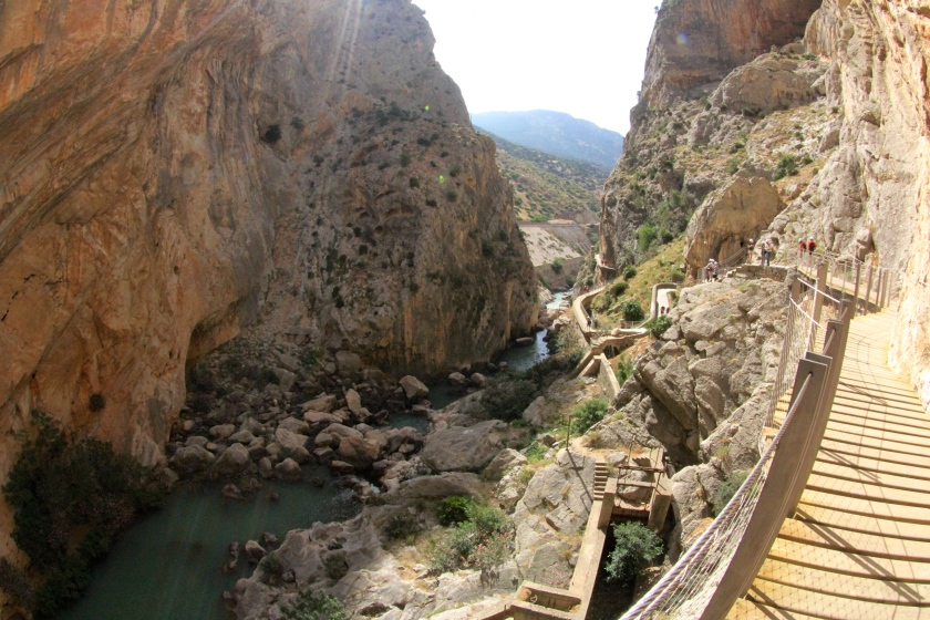 The board walks and the deep bellow of the canyon.