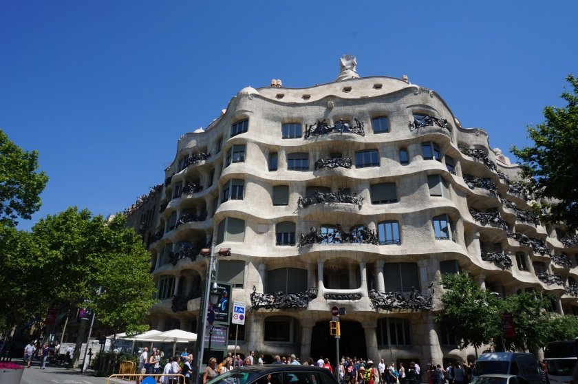 Casa Milà, with La Pedrera rooftop