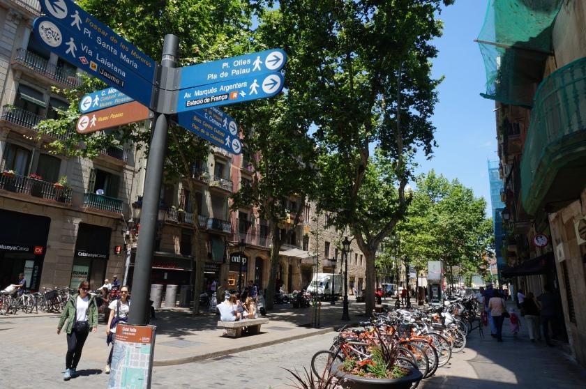 The Born/La Ribrera areas of the Gothic Quarter.