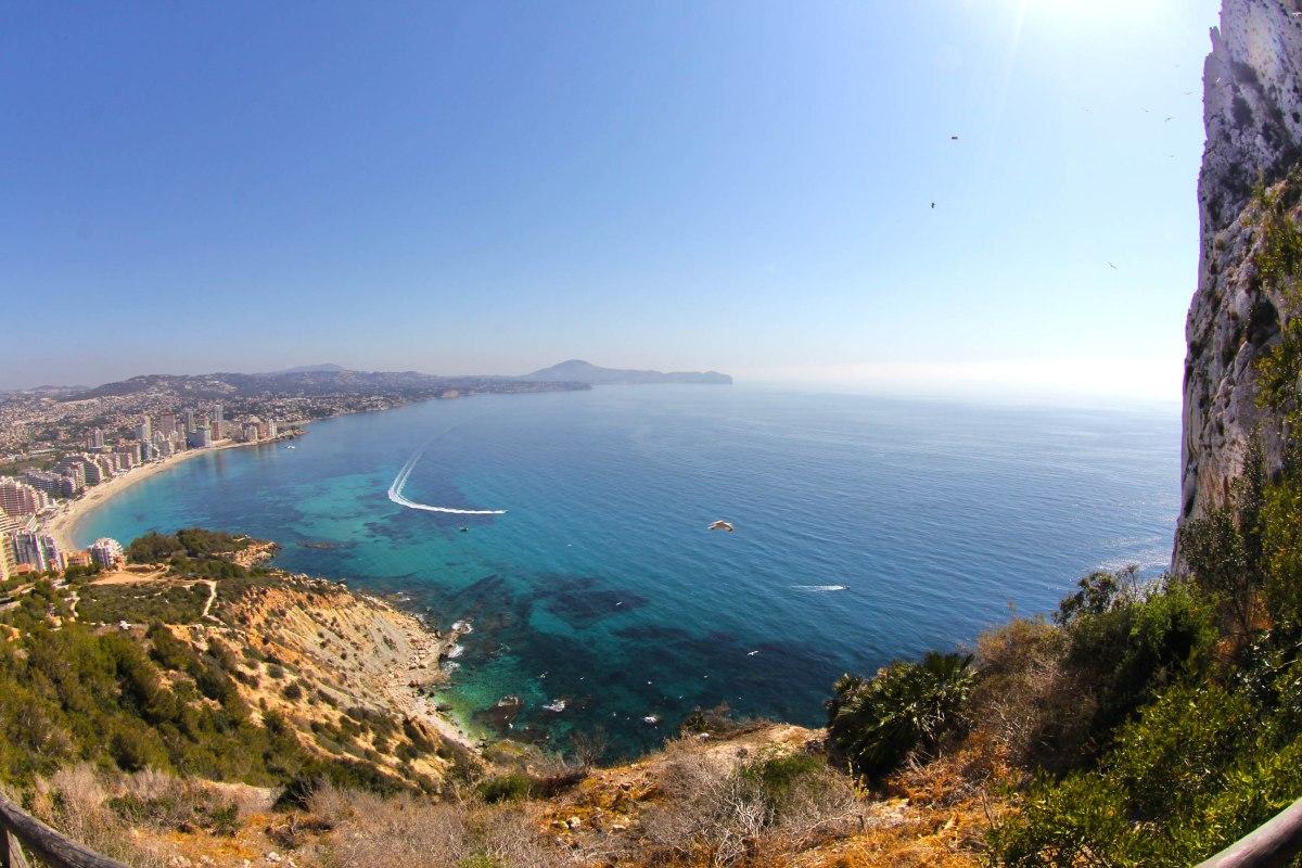 The Mediterranean Sea at Calpe, Spain