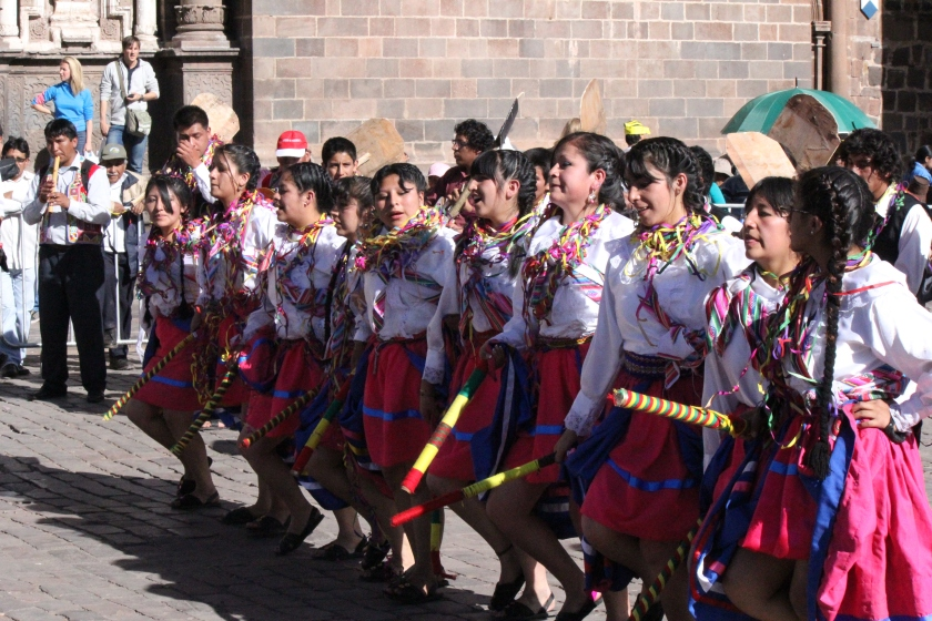 Dancers in Cusco's Plaza de Armas