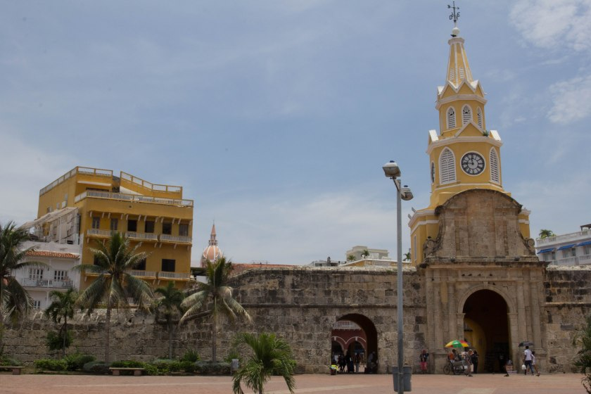 The Torre de Reloj is the gateway to the old city - and the haunt of street vendors of all kinds.