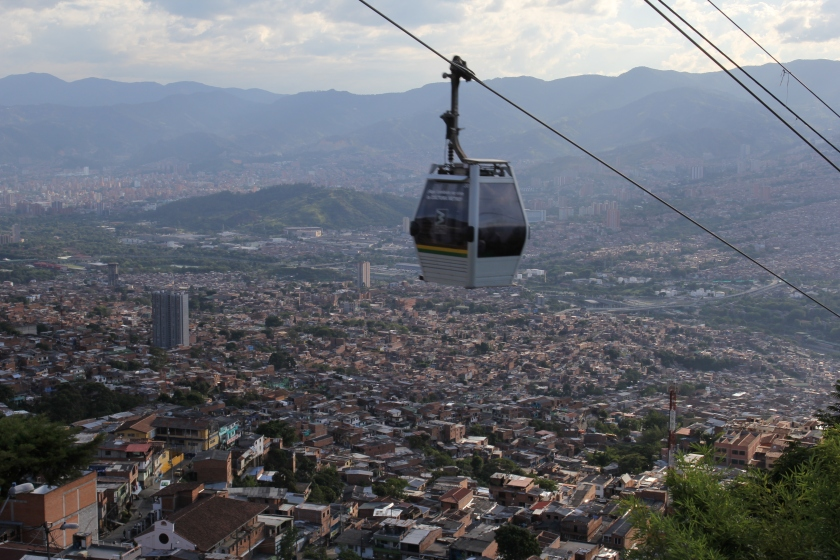 We went up the cable car, part of the public transport system, to see the city from the poor Santo Domingo neighbourhood.