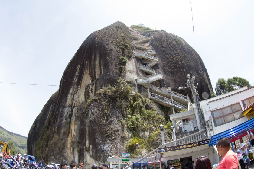 700-some stairs built into La Piedra.