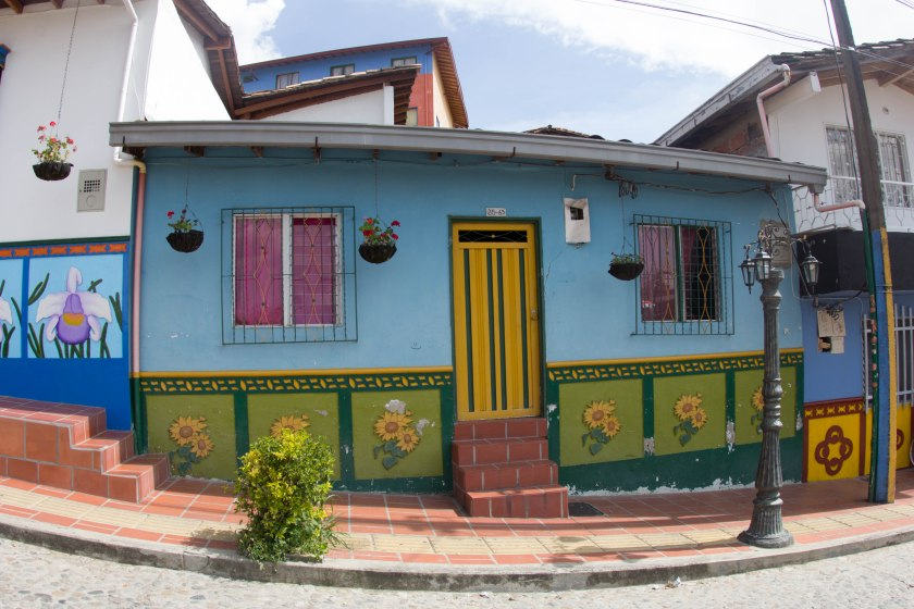 There are two stops for a daytrip to Guatape - first, La Piedra, the giant rock, and then the colourful town.